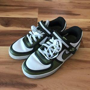 Green Nike shoes